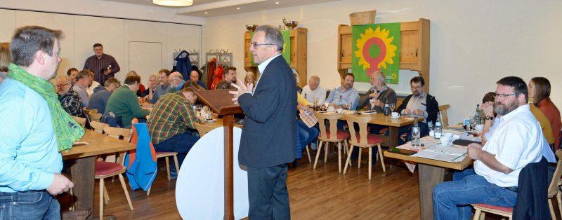 Thomas Gehring bei der Aufstellungsversammlung für unser Team zur Kommunalwahl 2020