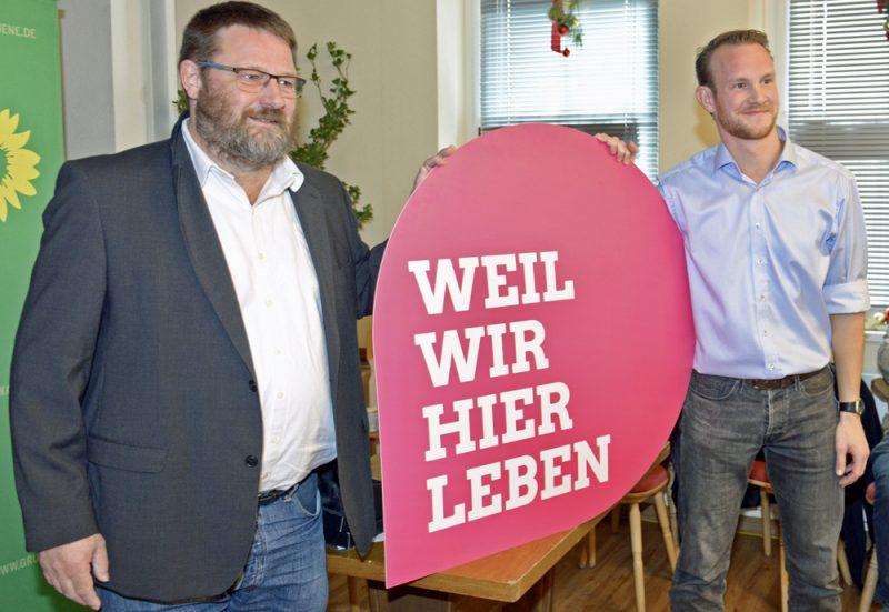 Dr. Günter Räder und Robert Herbst Bündnis 90 / Die Grünen im Ostallgäu