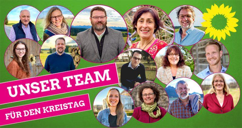 Kandidaten Kreistag Liste Bündnis 90 / Die Grünen