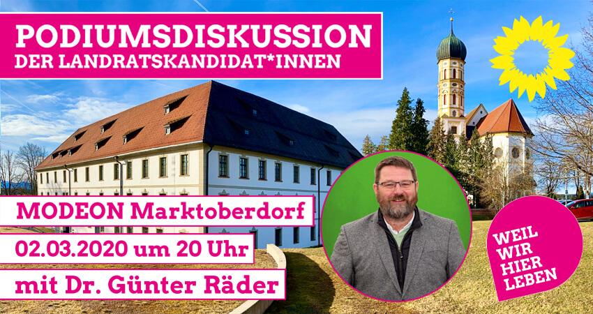 Podiumsdiskussion Landrat Dr. Günter Räder Modeon Marktoberdorf