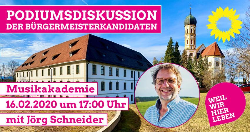 Podiumsdiskussion der Bügermeisterkandidaten Jörg Schneider