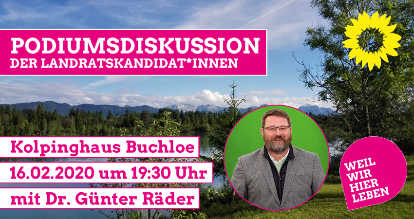 Podiumsdiskussion der Landratskandidaten in Buchloe Dr. Günter Räder
