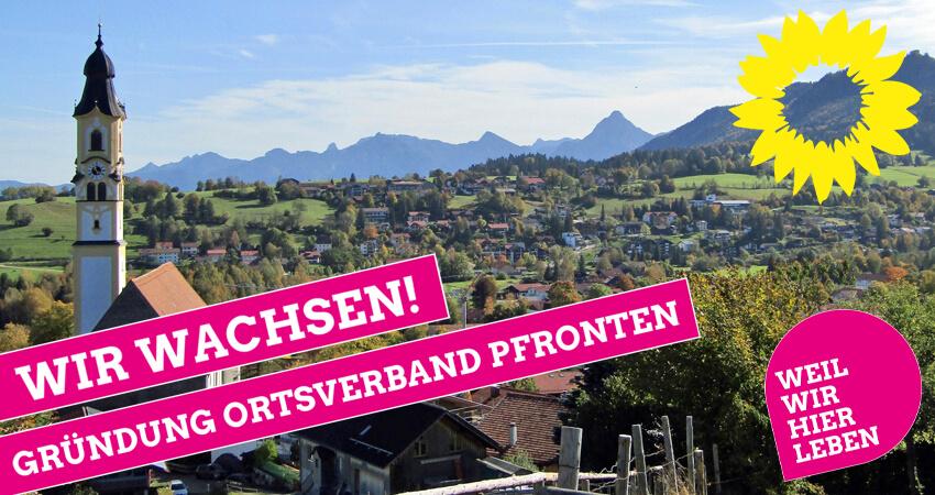 GRündung Ortsverband Pfronten Bündnis 90 / Die Grünen