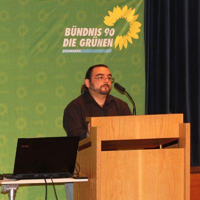 Giovanni Tortiello bei seiner Bewerbungsrede zur Nominierung als Bundestagskandidat