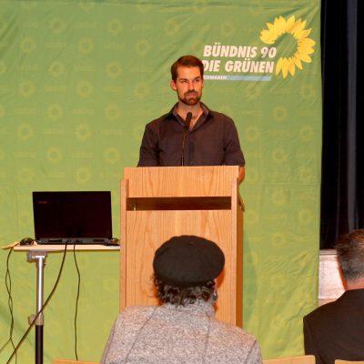 Jakob Rasch bei seiner Bewerbungsrede zur Nominierung als Bundestagskandidat