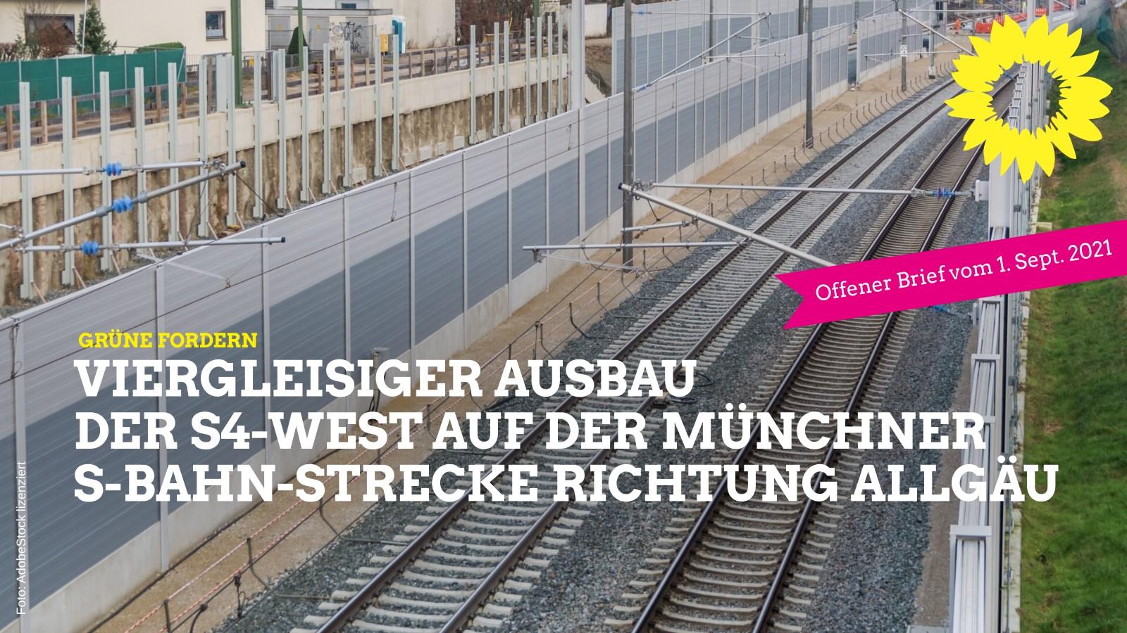Fahrpläne zwischen Allgäu und München wieder verbessern: 4-gleisiger Bahn-Ausbau jetzt!