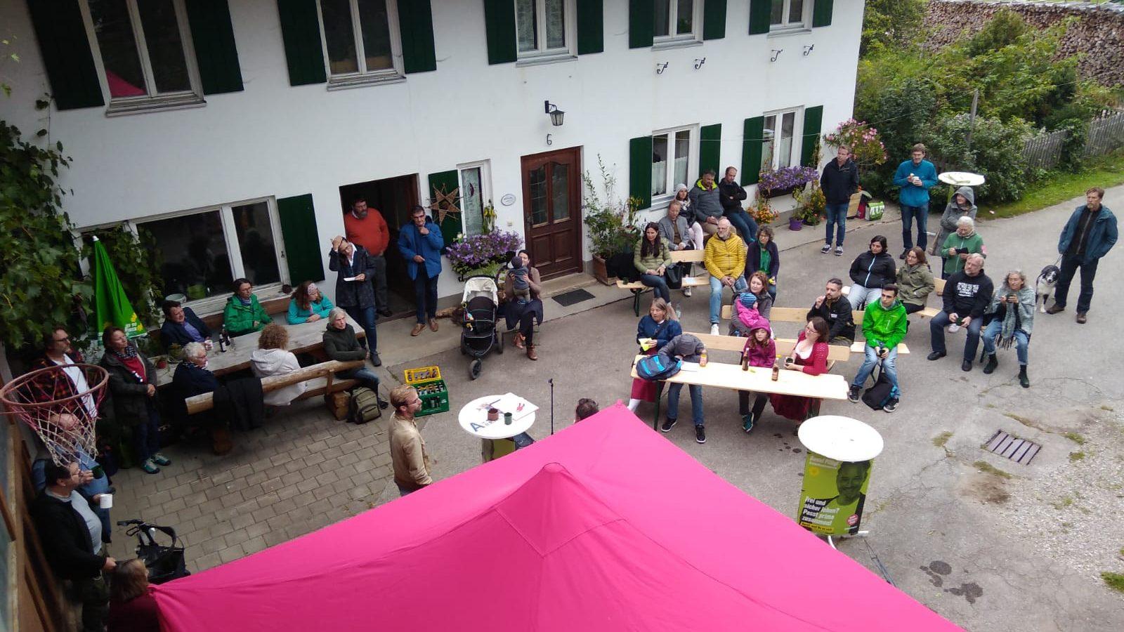 Trotz Regen gute Stimmung: unser Hoffest am Becklarhof in Ronried